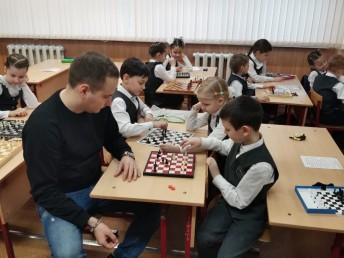 Шахматный мастер-класс в школе № 110