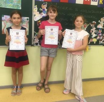 Призеры соревнований среди девочек